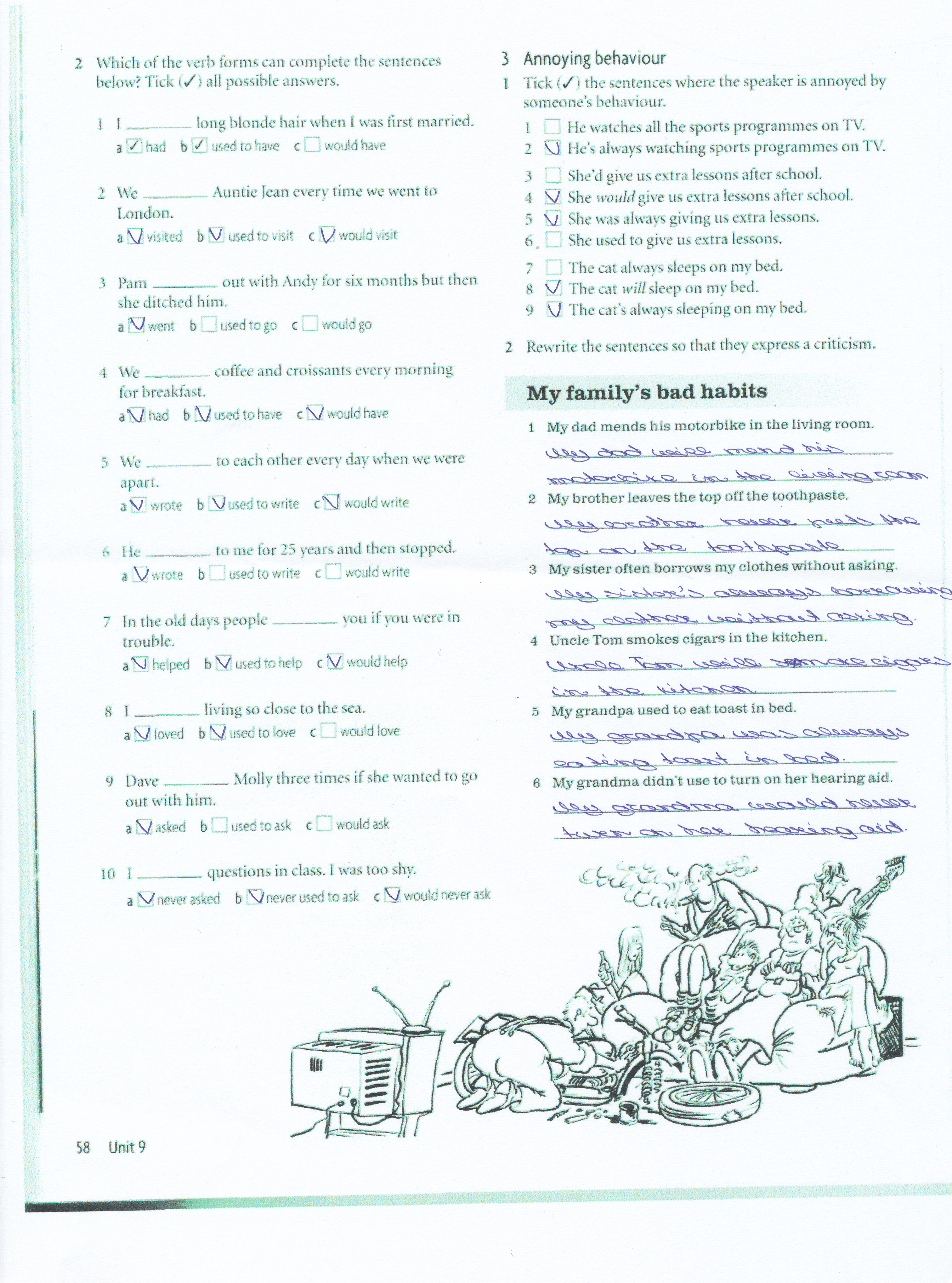 present and past habits exercises pdf