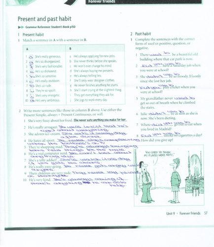 past and present habits exercises pdf